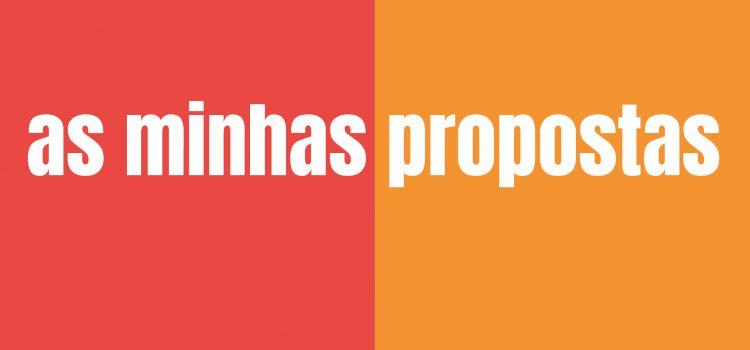 Minhas propostas: cultura, saúde, educação e mais