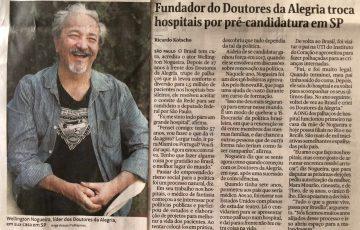 Folha de S.Paulo traz entrevista com Wellington Nogueira